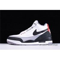 8cfb54fbad43d6 Copuon Air Jordan 3 Retro Tinker NRG White Fire Red Cement Grey-Black