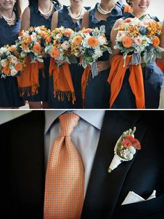 fall/ october- colors- navy and orange