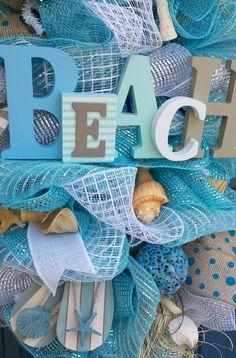 Déco plage/été mesh swag plage swag maille par WonderfulWreathsKim