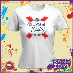ESTABLISHED 1948 65th BIRTHDAY WOMANS T SHIRT  Our Price: £12.97