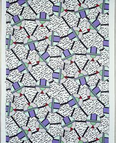 Textile, Cerchio, 1983 Designed by Natalie Du Pasquier Made by Rainbow Company: Memphis