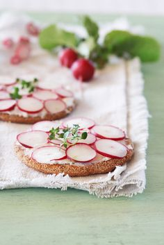 Radish sandwich with ricotta and thyme. ~ i don't care for Ricotta cheese, but i would use cream cheese with dill, Italian Seasoning, or Ranch dry mix.  Love radishes!