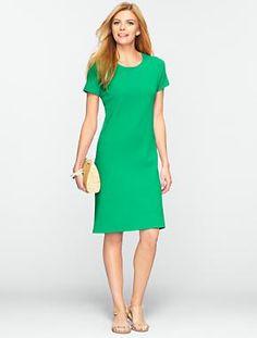 Talbots - Zip-Shoulder Tee Dress   Dresses   Misses