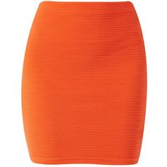 Bright Orange Textured Jersey Tube Skirt (34 BRL) ❤ liked on Polyvore featuring skirts, bottoms, spicy orange, bright skirts, jersey tube skirt, orange skirts, tube skirt and textured skirt