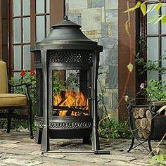 Sunjoy Tinder Cast Fireplace