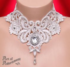Argenta Baroque Lace Choker by ArtOfAdornment.deviantart.com on @deviantART