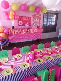 "Photo 3 of Read-a lot silly hair Lalaloopsy / Birthday ""Andrealoopsy Silly hair"" esta decoracion mira rosa scobedo 6th Birthday Parties, Birthday Bash, Birthday Ideas, Childrens Party, Party Gifts, Party Planning, Party Time, First Birthdays, Baby Shower"