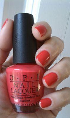 OPI Cajun Shrimp - My favorite summer color!!!