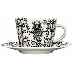iittala Taika Coffee/Tea Cup & Saucer found on Polyvore