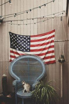 American flag #vintage #decoration