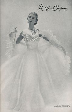 1950`s fashion, via Flickr. - reminds me of what Ginger Rogers might have worn as a dance dress.