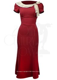 1930s Charm Dress - red