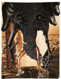 Wangechi Mutu, Elephant Stand, Courtesy the Artist and Victoria Miro Gallery, London. Fluxus, African Artists, Action Painting, Mixed Media Collage, Op Art, Design Crafts, Art Pictures, Concept Art, Moose Art
