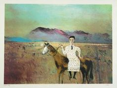 Artwork page for Steve Hart Dressed as a Girl', Sir Sidney Nolan, Australian Painters, Australian Artists, Art And Illustration, Illustrations, Contemporary Artists, Modern Art, Sidney Nolan, Victoria Art, Naive Art