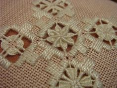 Hardanger by lela Types Of Embroidery, Embroidery Patterns Free, Embroidery Designs, Hardanger Embroidery, Embroidery Thread, Weaving Techniques, Embroidery Techniques, Drawn Thread, Cross Stitch Fabric