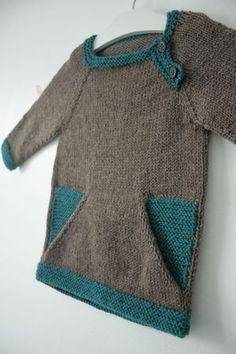Modèle Colorblock, taille 2 ans, Cascade 220 chez Laine et tricot