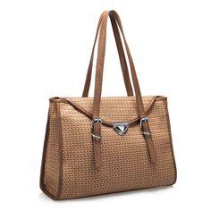 JSR Figured Cloth Shoulder Bag - Yellow [170533-20] - $37.00