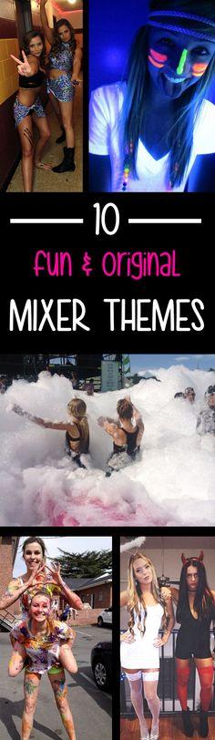 10 Fun and Original Mixer Themes