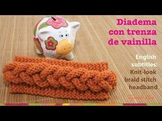 Mini tutorial # 7: vincha o diadema con trenza en relieve en 2 agujas / English subtitles - YouTube