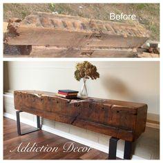 Repurposed Barn Beam by Addiction Decor
