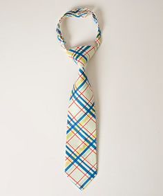 Loving this Red & Turquoise Plaid Tie on #zulily! #zulilyfinds