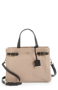 Free shipping and returns on kate spade new york 'holden street - olivera' satchel at Nordstrom.com. Pebbled leather accented with sleek, modern hardware—and a superbly structured silhouette—makes the new olivera bag from kate spade so chic. This striking satchel features three separate, spacious compartments so organizing is a snap. Handles and an optional strap offer styling options, while the kate spade logo and bow-edged luggage tag provide extra polish.