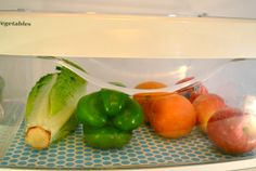 Fridge Coasters to keep my fruits and veggies fresher, longer.