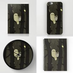 Little Ghost & Owl, art print and more, on Society6, Redbubble and INPRNT.