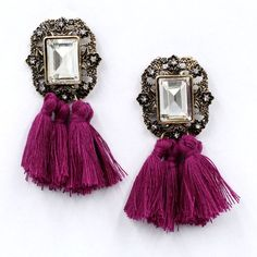 Stud Earrings New 2017 fashion jewelry hot sale women crysta vintage tassel statement bib stud Earrings for women jewelry Factory Price -- AliExpress Affiliate's Pin. Detailed information can be found by clicking on the image Vintage Glam, Vintage Style, Vintage Inspired, Statement Earrings, Women's Earrings, Bridal Earrings, Crystal Earrings, Fringe Earrings, Vintage Earrings