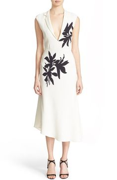 Narciso Rodriguez Floral Print Silk Crêpe Dress available at #Nordstrom