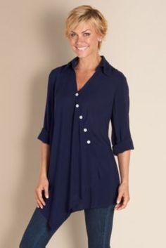 Cannes Tunic - Rayon Tunic, Tunic, Asymmetrical Hem   Soft Surroundings