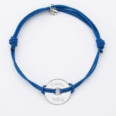 Bracelet homme personnalisé cordon double médaille gravée argent cible 20 mm texte 2