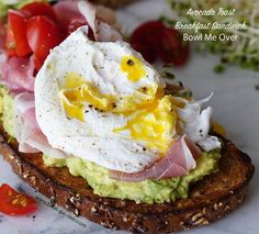 Avocado Toast Breakfast Sandwich - The easiest, most deliciously impressive breakfast sandwich ever! Perfect for Saturday morning or a fancy brunch!