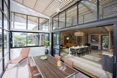 Indoor outdoor flow with Lockwood Gullwing. Inside Outside, Indoor Outdoor, Outdoor Decor, Conservatory, Beach House, The Outsiders, Reno Ideas, How To Plan, Space