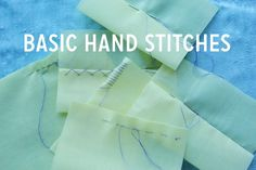 Sewing needle threading, knot tying, and  stitch types are presented in two videos. This is a basic hand sewing tutorial. The first Video covers the most common and very simple stitch types. The second video presents TWENTY different types of hand stitches.  Image: Coletterie Basic Hand Sewing Video 1 of 2 Click Next Page Below