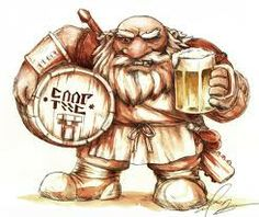 One of the Dwarves may be having more than his share of ale...