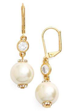 kate spade new york pearls of wisdom imitation pearl drop earrings