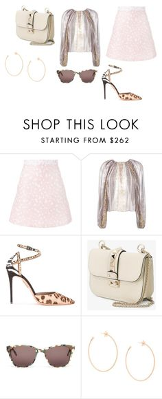 """Sin título #9867"" by ceciliaamuedo ❤ liked on Polyvore featuring House of Holland, Giambattista Valli, Aquazzura, Valentino, Prism and Carolina Bucci"