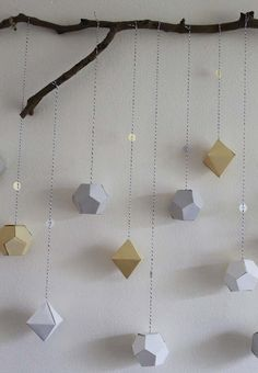 Blog My Little Party - Ideas e Inspiración para Fiestas: DIY: Guirnaldas Geométricas