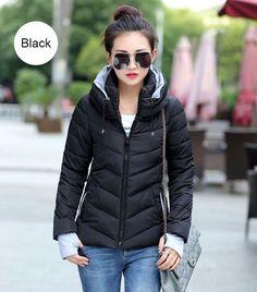 42c6818e9dde Winter Fashion Jacket Women Thicken Outerwear Coat Women Down Coats Short  Slim Design Cotton-padded