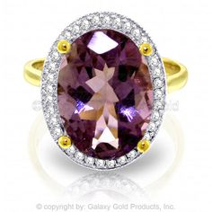 Solid Rose Gold Loren Amethyst Diamond Ring - Natural, non-conflict gems. As the gems are natural, slight color variances may occur. This opulent, thin jewelry exudes class, will steal the show and lift the heart. Amethyst And Diamond Ring, Purple Amethyst, Halo Diamond, Month Gemstones, Pear Diamond Engagement Ring, Diamond Rings For Sale, Gem Diamonds, Stylish Rings, Or Rose