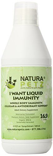 Natura Petz I Want Liquid Immunity Cellular and Antioxidant Support for Adult Pets Lyme Defense 169ml 500 FluidOunce * Visit the image link more details.(This is an Amazon affiliate link and I receive a commission for the sales)