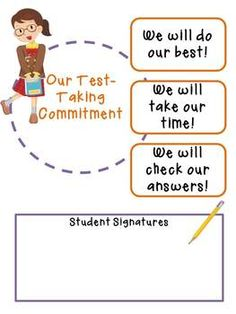 Free Test Taking Commitment Class Poster with Bonus!