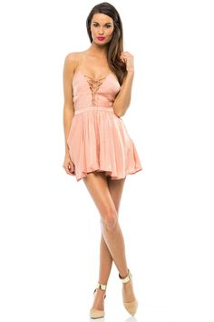The Lotus Romper by The Jetset Diaries is a classic with its lace-up front detail, exposed back with tassel ties, and cinched waist with flounce shorts. Cute Casual Outfits, Chic Outfits, Girly Outfits, Fashion Outfits, Transgender Transformation, Daddys Girl, Sexy Legs, Streetwear Fashion, Street Wear