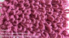(Loop stitch) - Embossed Knitting Patterns- Free Knitting Tutorials - Wa...