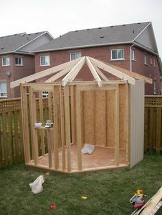 DIY shed- step by step  Would like 2 of these, one for a garden shed & one playhouse