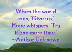 hope pictures and quotes | ... you choose hope anything s possible quotes on hope christopher reeve