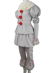 Stephen King's It 2019 film evil Pennywise cosplay halloween costume supervillain clown jester make-up carnival costume outfit toys gift unisex – Kostüm Karneval Pennywise Halloween Costume, Joker Costume, Family Halloween Costumes, Halloween Cosplay, Halloween 2018, Female Pennywise Costume, Halloween Ideas, Video Game Costumes, Stephen King