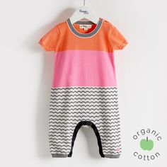The bonnie mob - GUPPY Organic Cotton Pink Baby Playsuit