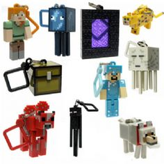 Minecraft Keyring Figures - Set of 10